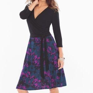 Leota Perfect Wrap Dress in Purple Floral